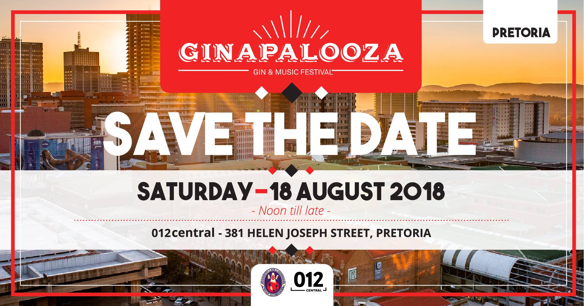 Ginapalooza - Gin & Music Festival - Pretoria Edition — 18 August 2018